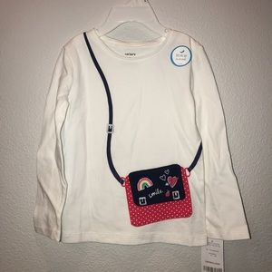 NEW 2T Long-Sleeved Shirt with Flap Detail